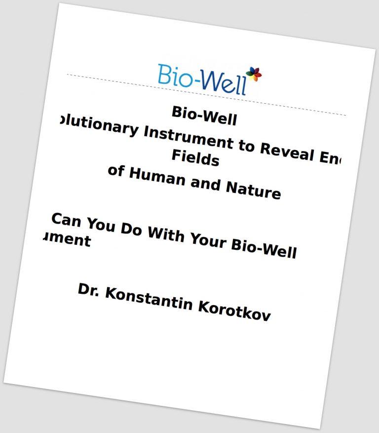 Bio-Well Book updated