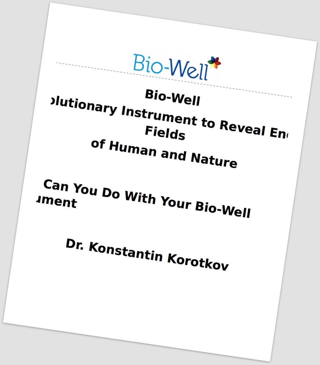 Bio-Well book